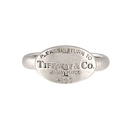Tiffany & Co. 925 Sterling Silver Return to Tiffany Oval Ring Size 8.5
