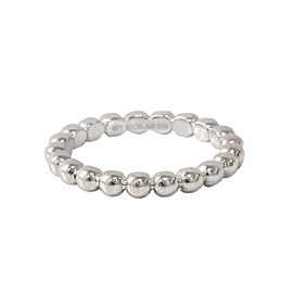 Tiffany & Co. Sterling Silver Gatsby Beaded Ring