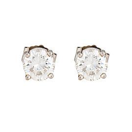 14K White Gold 0.93ctw Diamond Earrings
