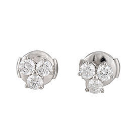 Tiffany & Co. Platinum and 0.60ct Diamond Earrings