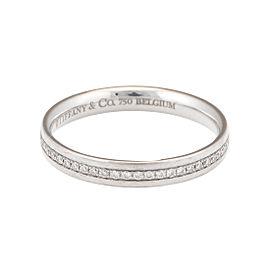 Tiffany & Co. 18k White Gold 'Metro' Diamond Eternity Band Ring Size 7.75