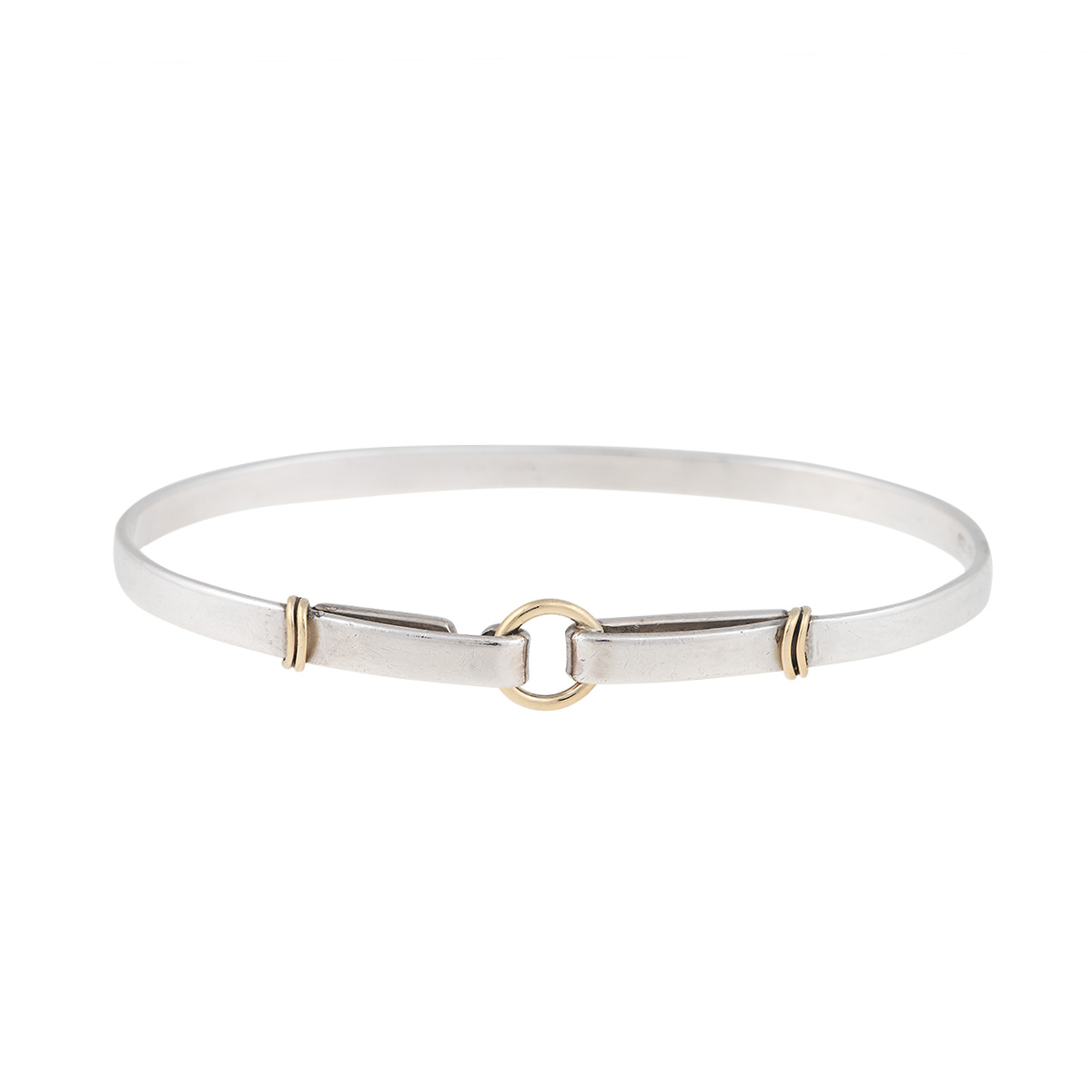 a136f320e5010 Tiffany & Co. Sterling Silver and 18K Yellow Gold Hook Bangle Bracelet