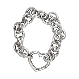 Tiffany & Co. Sterling Silver Heart Lock Bracelet