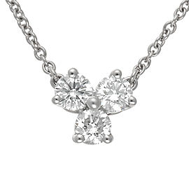 Tiffany & Co. Platinum 0.30ct. Diamond Pendant Necklace