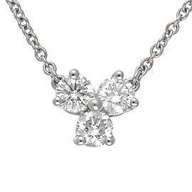 Tiffany & Co. Platinum 0.30ct. Diamond Pendant Necklace