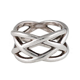 TIffany & Co. Sterling Silver Open Weave Ring Size 7