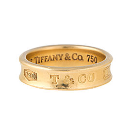 Tiffany & Co. 18K Yellow Gold 1837 Band Ring Size 9