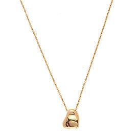 Tiffany & Co. 18K Yellow Gold Full Heart Pendant Necklace