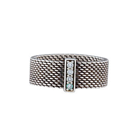 Tiffany & Co. 925 Sterling Silver Somerset 0.06ctw Diamond Ring Size 6.5