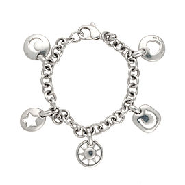 Tiffany & Co. Sterling Silver Stencil Charm Bracelet