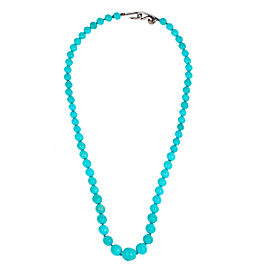 Tiffany & Co. Sterling Silver Turquoise Beaded Necklace