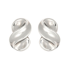 Tiffany & Co. Sterling Silver Clip on Wave Earrings