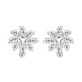 Tiffany & Co. Firework Collection Platinum Diamond Earrings