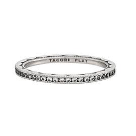 Tacori Platinum & 0.42ctw Diamond Sculpted Crescent Eternity Band Ring Size 7.5