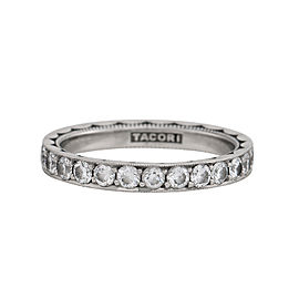 Tacori Platinum & 1.35ctw Diamond Sculpted Crescent Eternity Band Ring Size 7.5