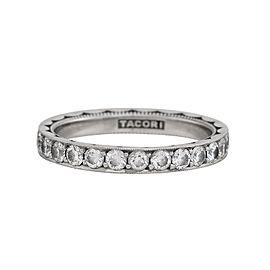 Tacori Platinum & 1.35ctw Diamond Sculpted Crescent Eternity Band Ring Size 7.5