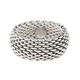 Tiffany & Co. Sterling Silver Mesh Ring Size 7