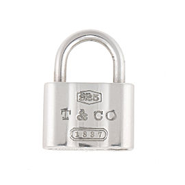 Tiffany & Co. Sterling Silver 1837 Padlock Charm Pendant