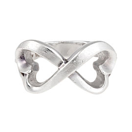 Tiffany & Co. Paloma Picasso Sterling Silver Double Open Heart Ring Size 6