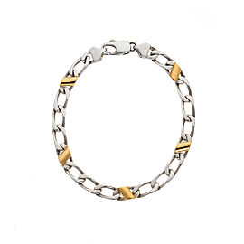 Tiffany & Co. 18K Yellow Gold & 925 Sterling Silver Cuban Link Bracelet