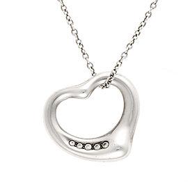 Tiffany & Co. Sterling Silver Elsa Perretti Open Heart Pendant Necklace