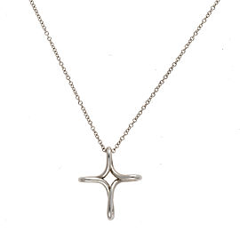 Tiffany & Co. 950 Platinum Infinity Cross Necklace