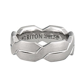 Triton Tungsten Woven Engraved Comfort Fit Band Ring Size 10