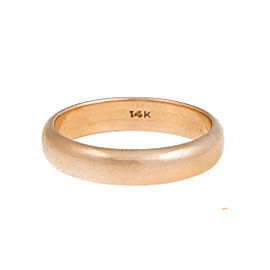 14K Yellow Gold Wedding Ring Size 10.25