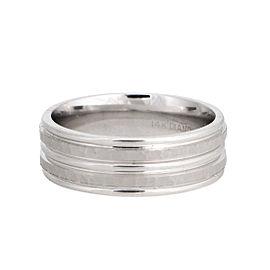 14K White Gold Hammered Finish Wedding Band Ring Size 9.5