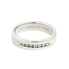 14k White Gold 0.20ct Diamond Mens Wedding Band