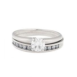 10K & 14K White Gold Diamond Engagement Ring Set