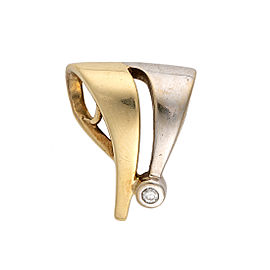 14K Two-Tone Diamond Slider Pendant