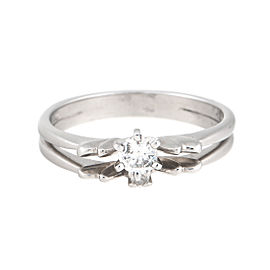 14K White Gold Diamond Ring Set Size 7