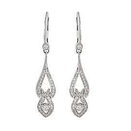 18K White Gold 0.85ct. Diamond Drop Earrings