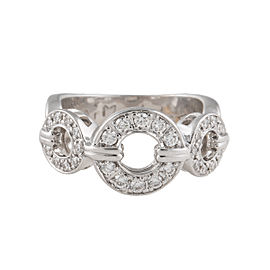 Di Modolo 14K White Gold 3 Buckle 0.4ct. Diamond Ring Size 6