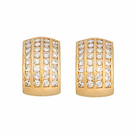 14K Yellow Gold 2.56ctw. Diamond Huggie Earrings