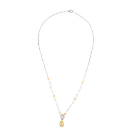 Greg Ruth 18k Yellow and White Gold Diamond Necklace