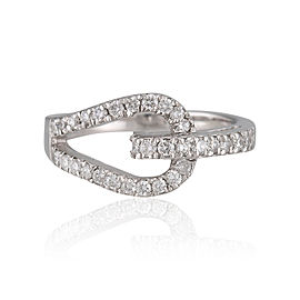 18K White Gold 0.32ctw. Diamond Ring Size 7.25