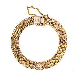 14K Yellow Gold Bismark Link Bracelet