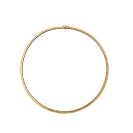 14k Yellow Gold Wide Choker Necklace
