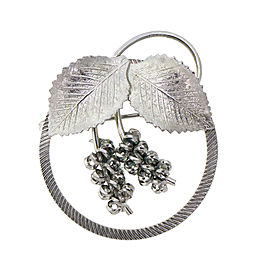 Sterling Silver Flower Brooch