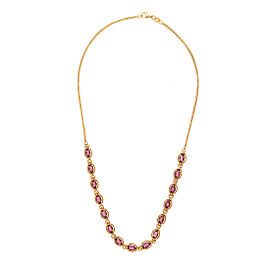 14K Yellow Gold 7.25ct. Garnet Necklace