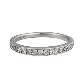 14K White Gold 0.15ct. Diamond Wedding Band Ring Size 6