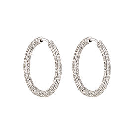 14K White Gold 3.50ctw Diamond Earrings