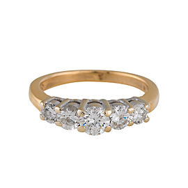 14K Yellow & White Gold with 0.97ct Diamond Engagement Ring Size 5.5
