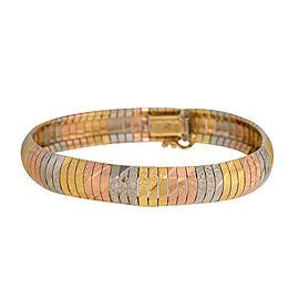 14K Yellow, Rose and White Gold Bracelet