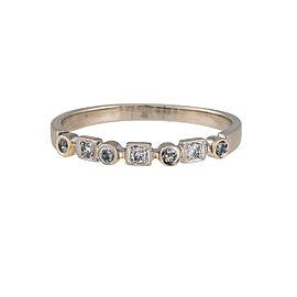 14K White Gold 0.14ctw Diamond Ring Size 9