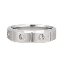 14K White Gold 0.25ct. Diamond Wedding Band Ring Size 11.25