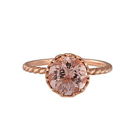 14K Rose Gold 2.00ct Natural Morganite Ring Size 7