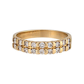 14K Yellow Gold & 0.50ctw. Diamond Wedding Band Ring Size 6.5